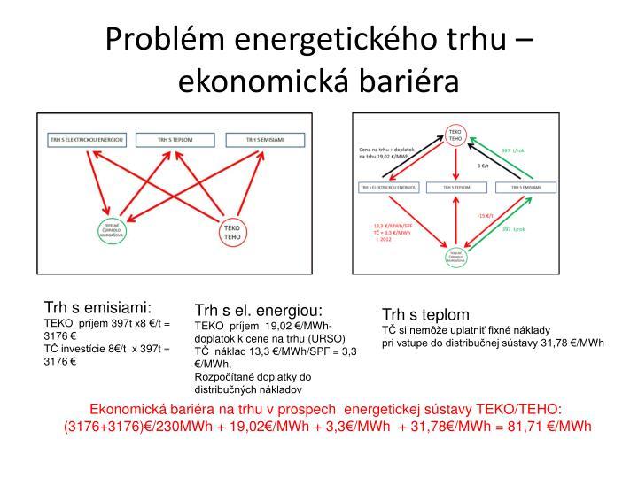 Problém energetického trhu – ekonomická bariéra