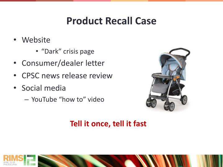 Product Recall Case