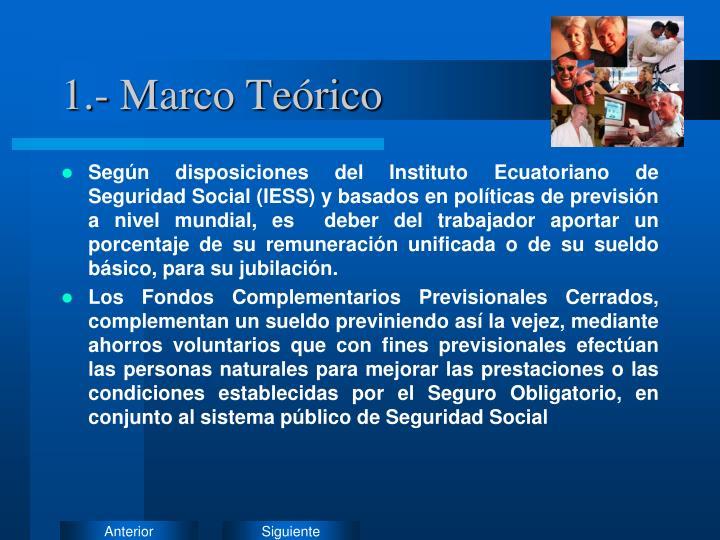 1.- Marco Teórico