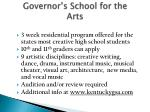 governor s school for the arts