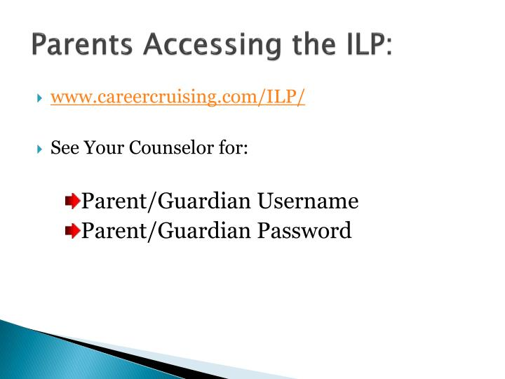 Parents Accessing the ILP: