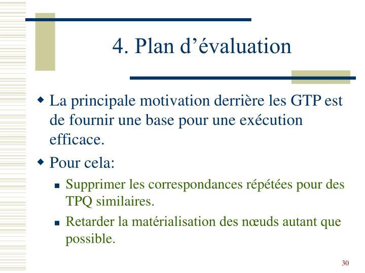 4. Plan d'évaluation