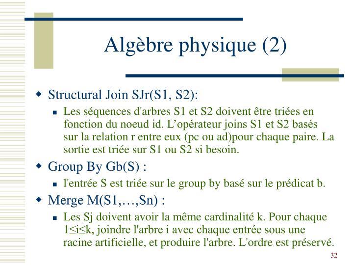 Algèbre physique (2)
