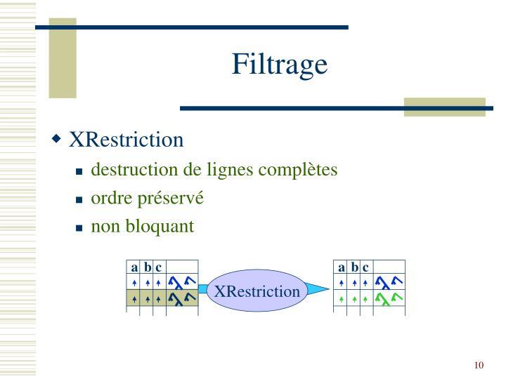 Filtrage