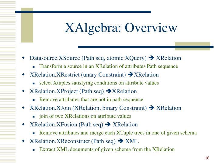 XAlgebra: Overview