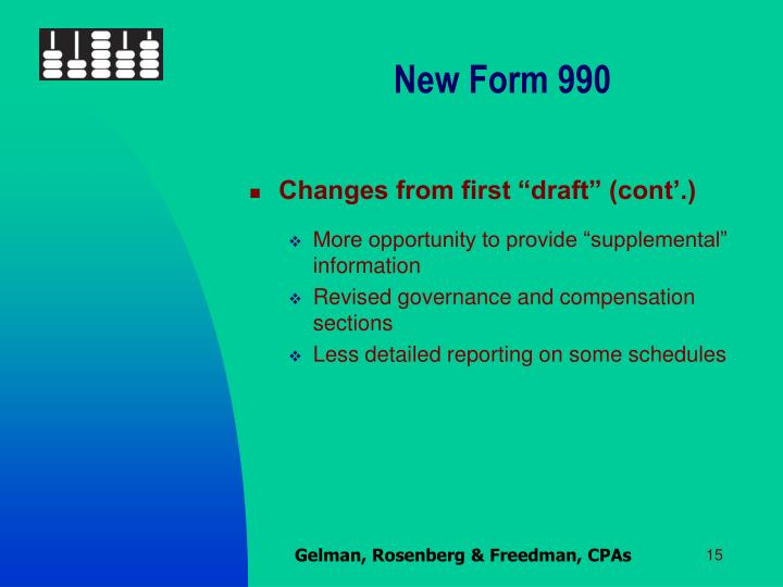 New Form 990