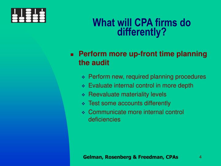 What will CPA firms do differently?