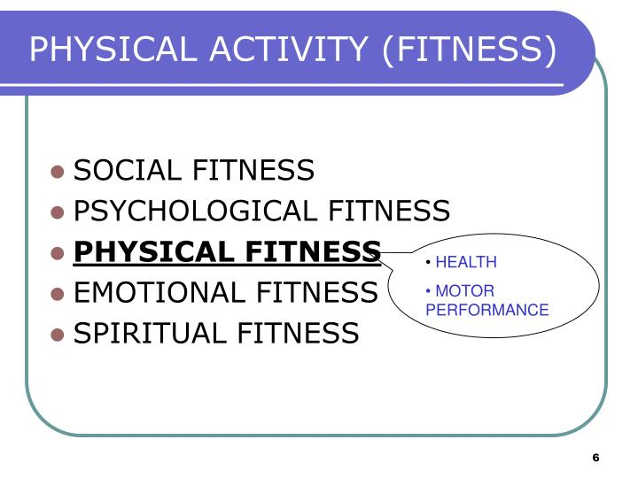 PHYSICAL ACTIVITY (FITNESS)
