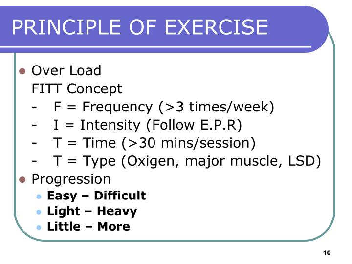 PRINCIPLE OF EXERCISE