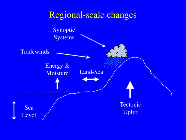 Regional-scale changes