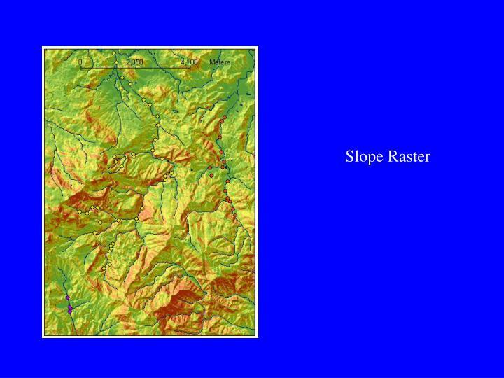 Slope Raster