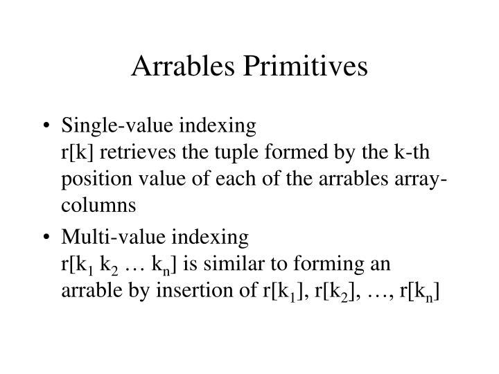 Arrables Primitives