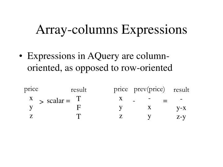 Array-columns Expressions
