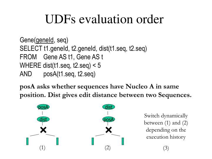 UDFs evaluation order