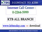 3 contact to ktbs