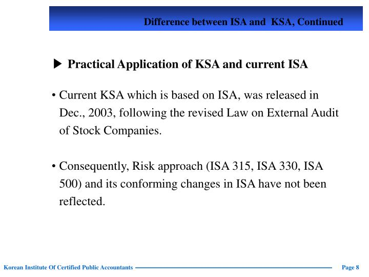 Difference between ISA
