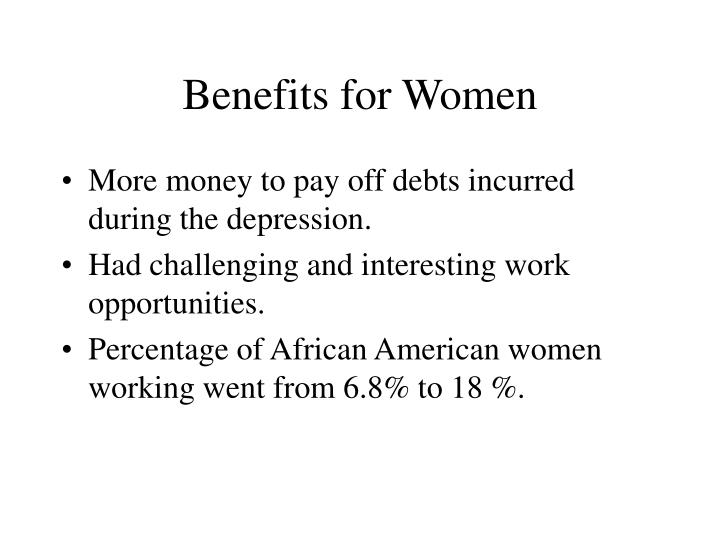 Benefits for Women