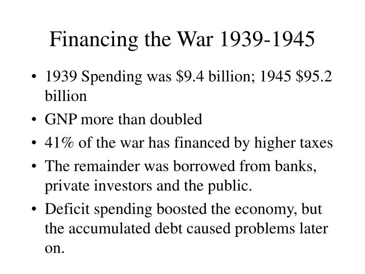 Financing the War 1939-1945