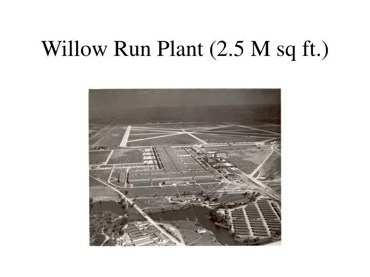 Willow Run Plant (2.5 M sq ft.)