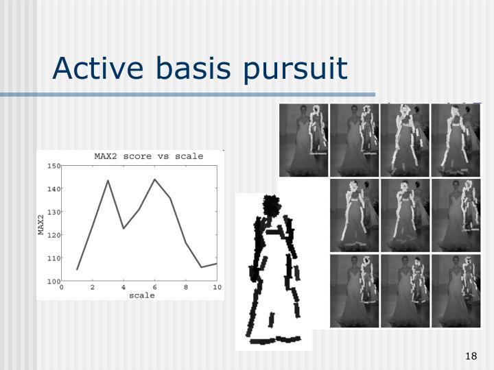 Active basis pursuit