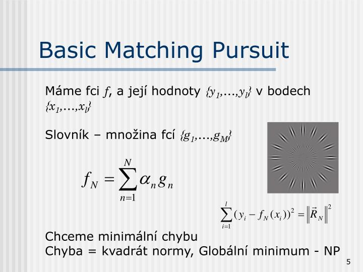 Basic Matching Pursuit