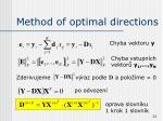 method of optimal directions