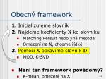 obecn framework
