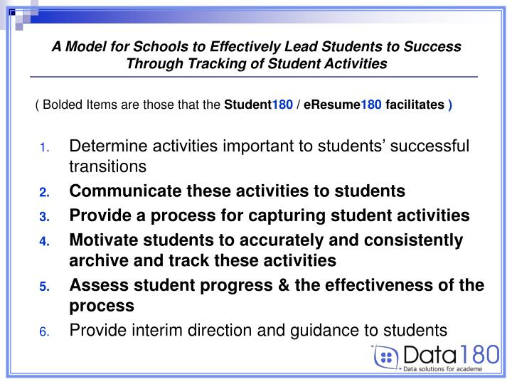 A Model for Schools to Effectively Lead Students to Success
