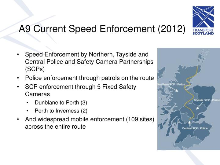 A9 Current Speed Enforcement (2012)