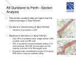 a9 dunblane to perth section analysis