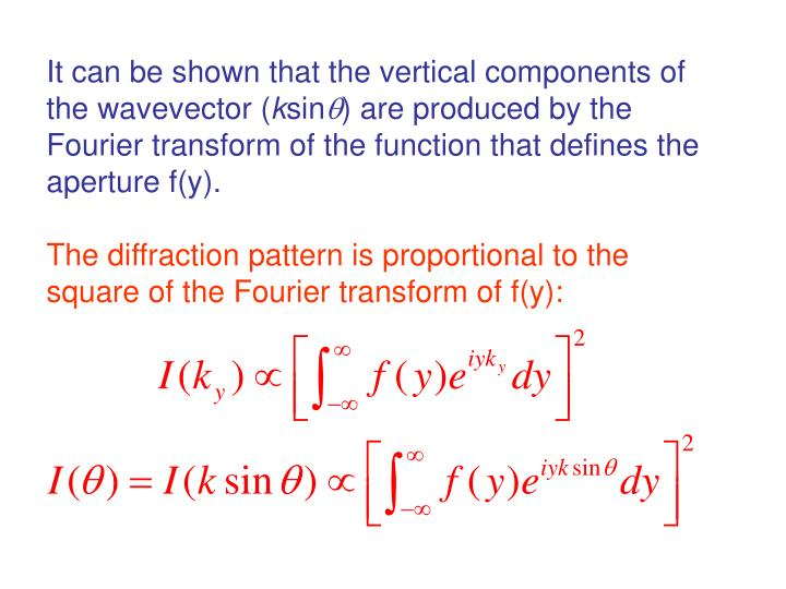 It can be shown that the vertical components of the wavevector (