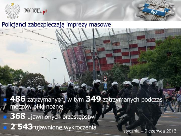 Policjanci zabezpieczają imprezy masowe