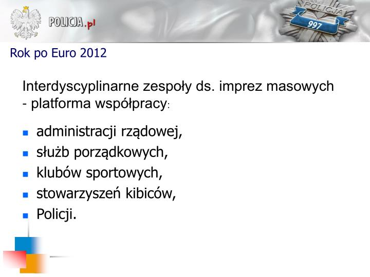 Rok po Euro 2012