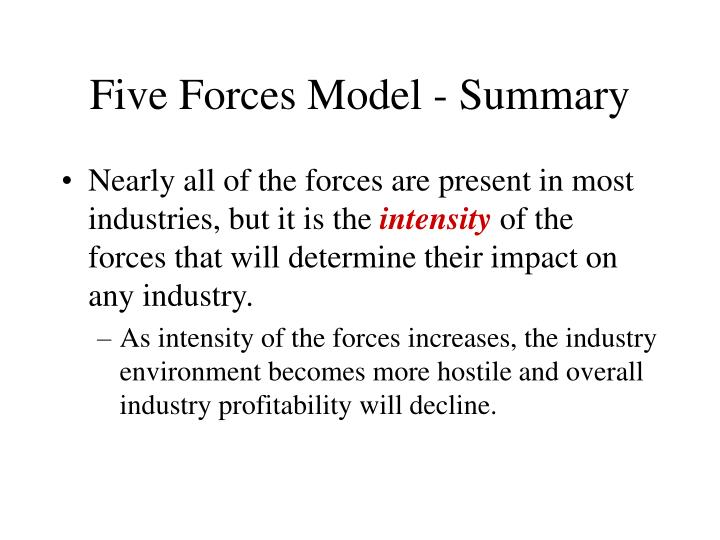 Five forces model summary