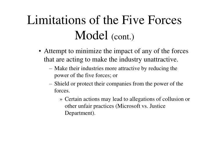 Limitations of the Five Forces Model