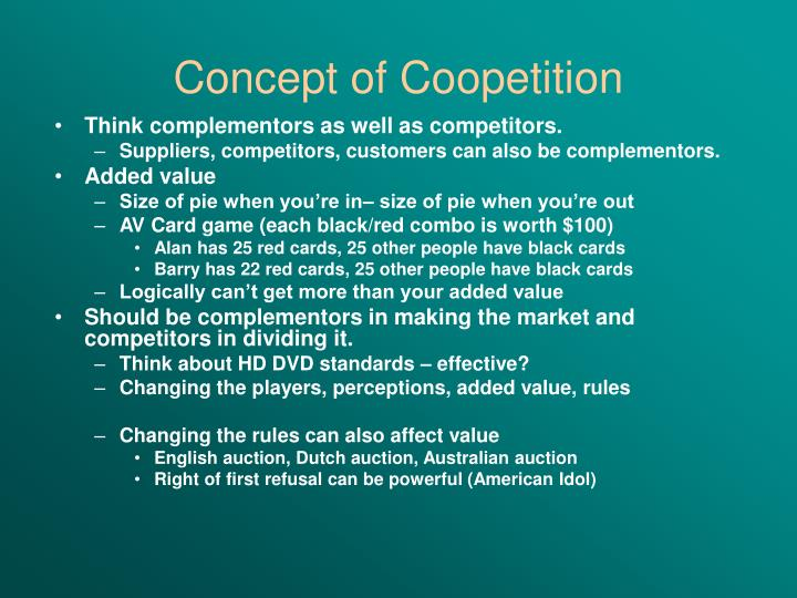 Concept of Coopetition