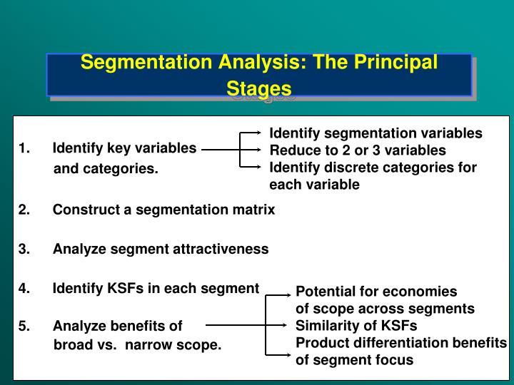 Segmentation Analysis: The Principal Stages