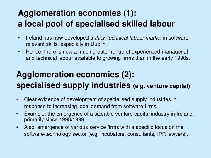 Agglomeration economies (1):