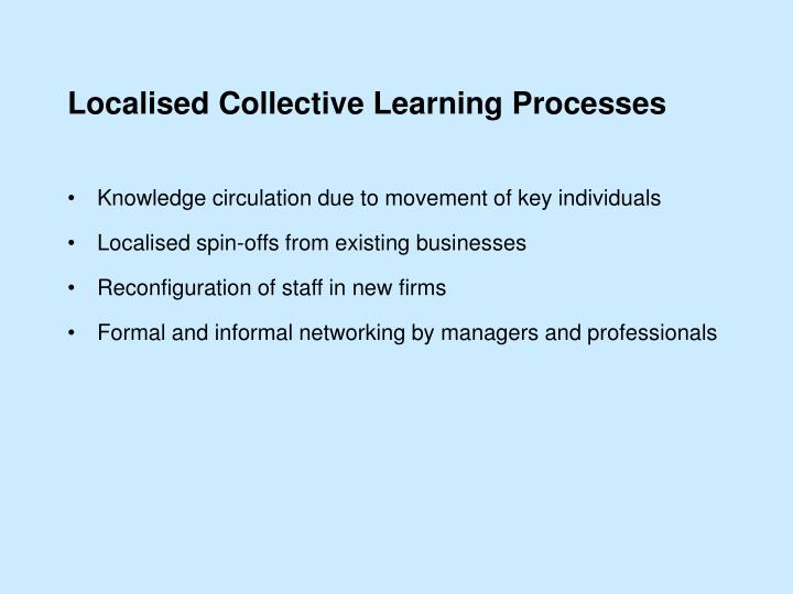 Localised Collective Learning Processes