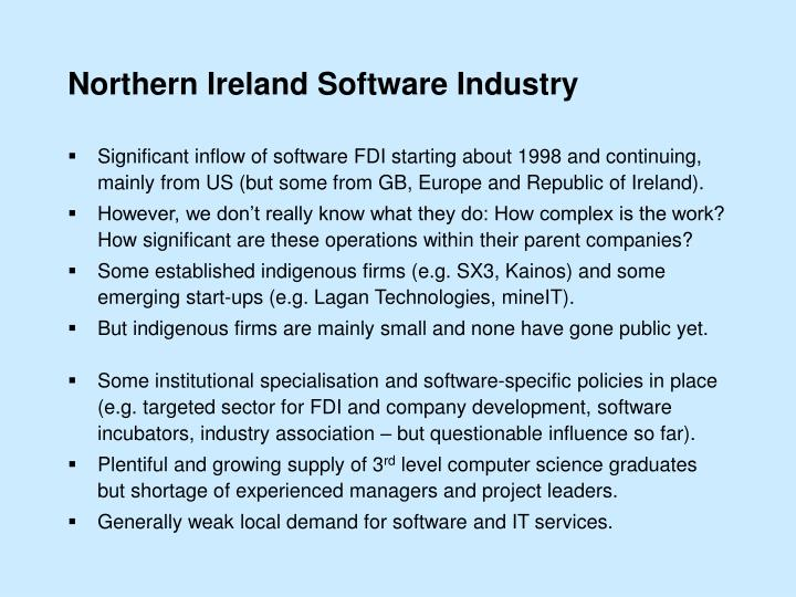 Northern Ireland Software Industry