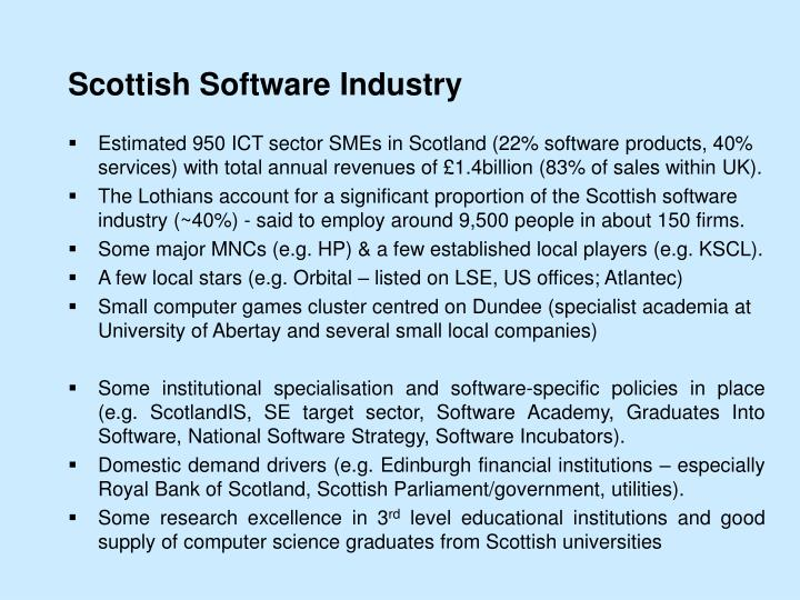 Scottish Software Industry