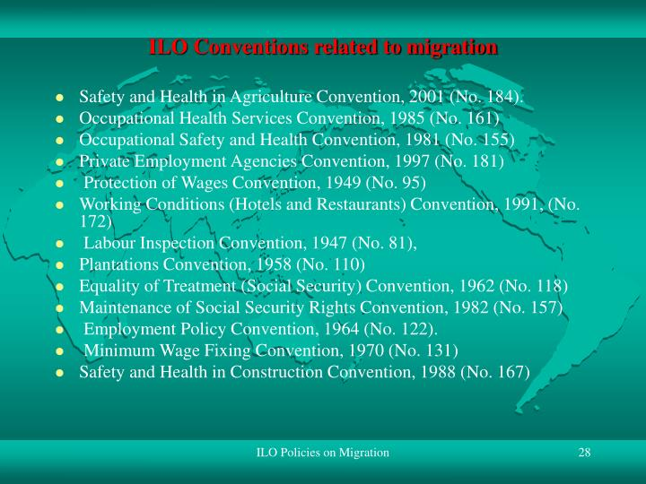 ILO Conventions related to migration