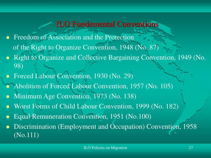 ILO Fundemental Conventions