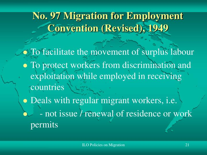 No. 97 Migration for Employment Convention (Revised), 1949