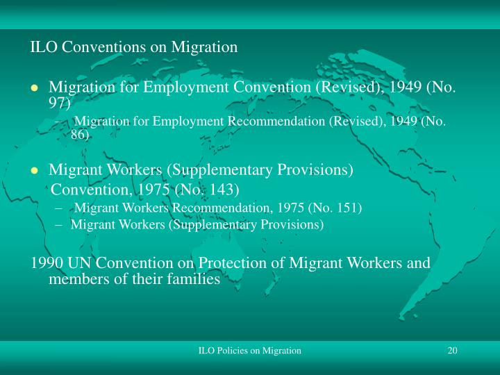 ILO Conventions on Migration