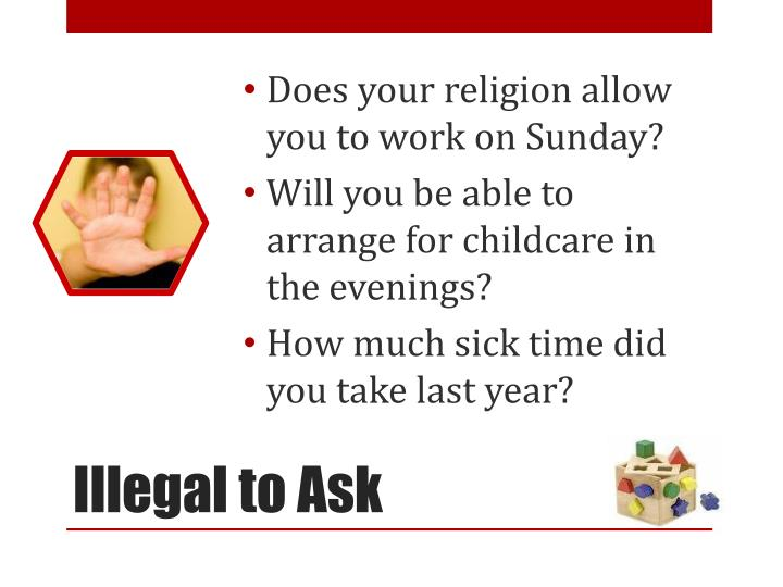 Does your religion allow you to work on Sunday?