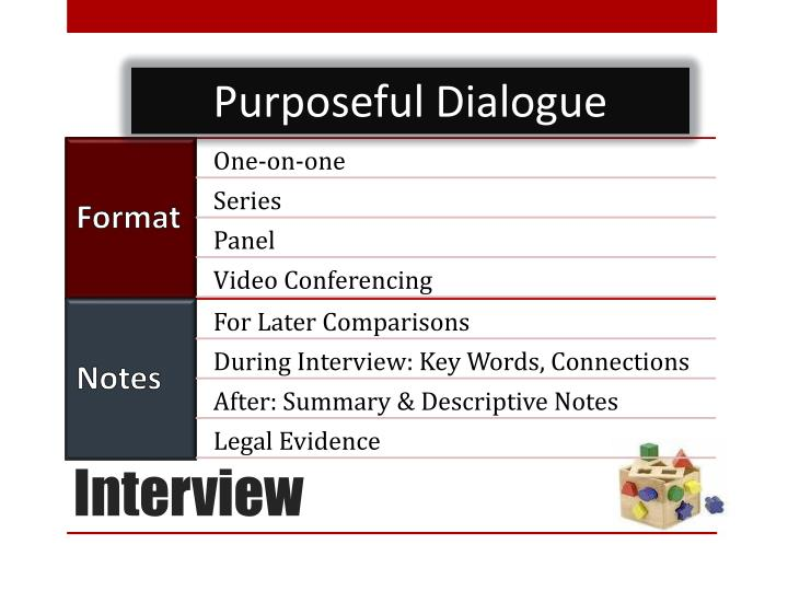 Purposeful Dialogue