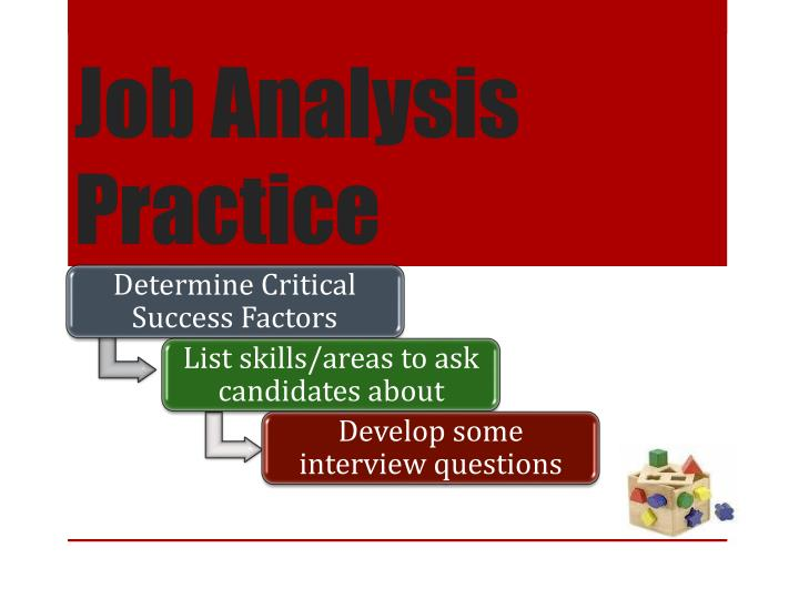 Job Analysis Practice