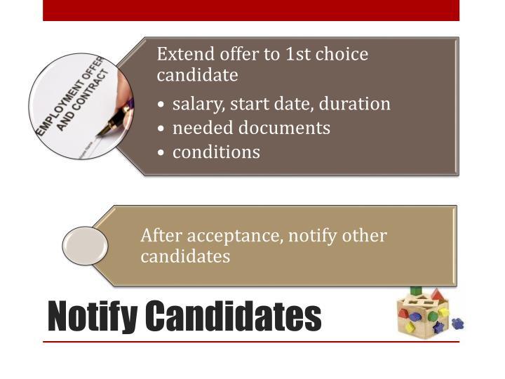 Notify Candidates