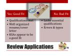 review applications1